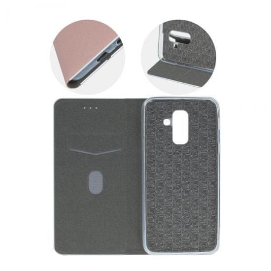 Havana Premium preklopna torbica za Samsung Galaxy A50 A505, ružičasta sa srebrnim rubom