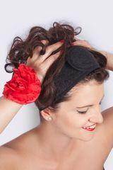 MaryBerry Černá kosmetická čelenka