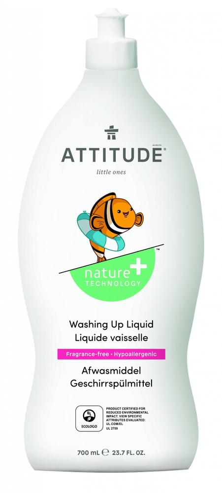Attitude Prostředek na mytí nádobí pro děti bez vůně 700 ml