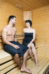 MaryBerry Dárkový set dámský a pánský černý kilt do sauny Velikost: S-M-L (dámský) + S-M (pánský)
