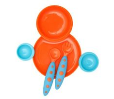 Boon zestaw do jadalni dla dzieci, niebiesko-pomarańczowy