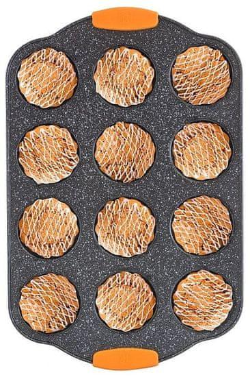 Berlingerhaus Forma na muffiny 12 ks silikonové rukojeti 41 x 27 x 3 cm Granit Diamond Line