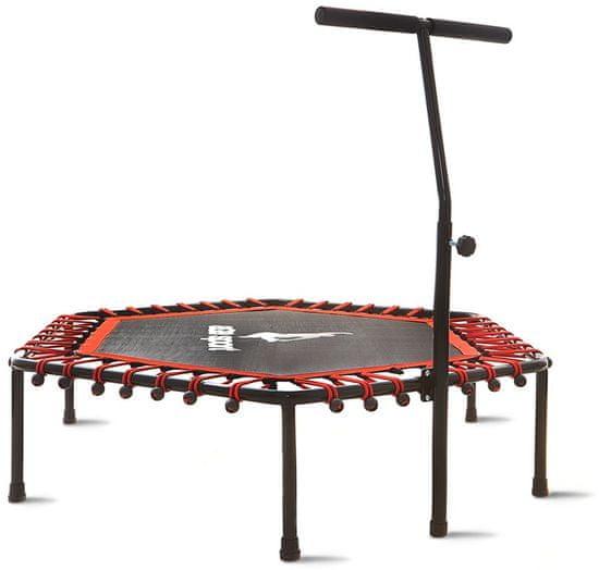 Aga Fitness 130 cm trambulin Red + kapaszkodó