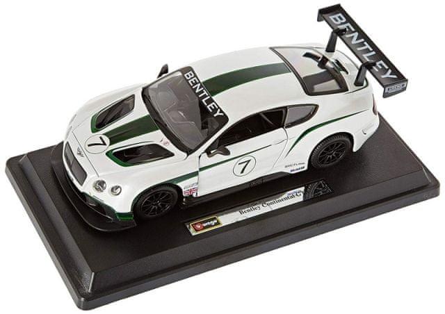 BBurago RACE BENTLEY CONTIN.GT3 1:24 bílá metalíza