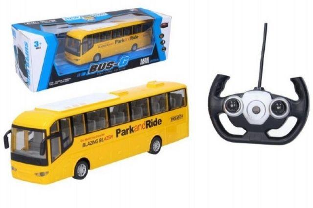 Wiky Autobus RC 28cm na dálkové ovládání + bateriový pack se světlem