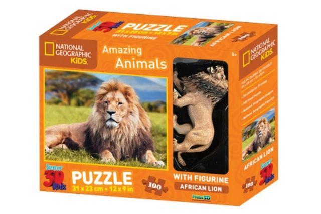 Lamps 3D Puzzle Lev 100 dílků figurka