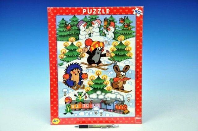Dino Puzzle Krtek na sněhu 40 dílků - Dino