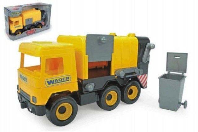 Wader Auto middle Truck popelář 42cm žlutý Wader