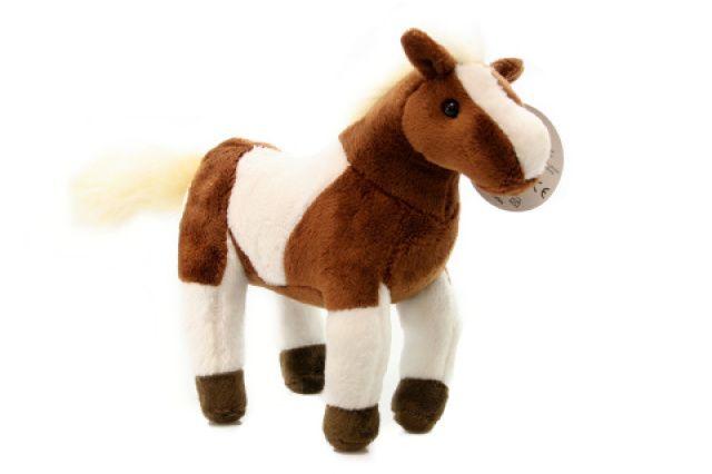 Lamps Plyš Hnědobílý kůň