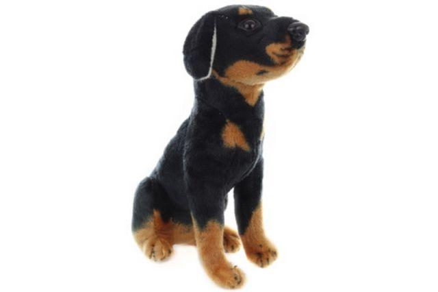 Lamps Plyš Pes černý 24 cm
