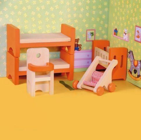 Woody Woody Nábytek do domečku - Dětský pokoj