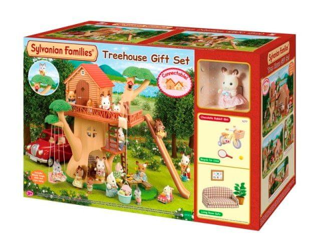 Sylvanian Families Dárkový set - Dům na stromě s příslušenstvím