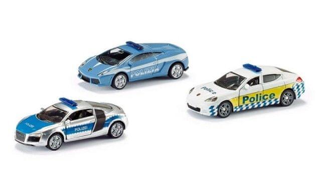 SIKU SIKU Super 6302 - Dárková sada 3 policejní auta