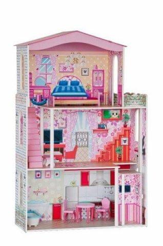 Woody Woody Domeček - velký, 7 ks nábytku ( pro panenky typu Barbie)