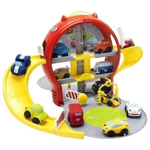 Mikro Trading Parkovací garáž patrová, barevná s autem