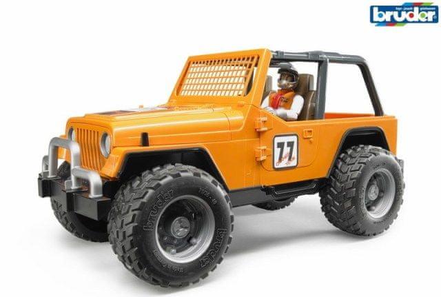 Bruder 2542 Závodní Jeep Cross oranžový se závodníkem