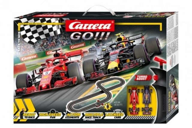 Carrera Autodráha Carrera GO!!! 62483 Race to Win 4,3m + 2 formule