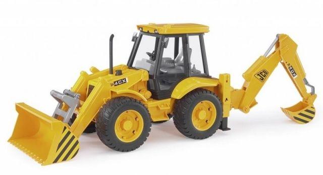 Bruder 2428 Traktor JCB - čelní nakladač + bagr