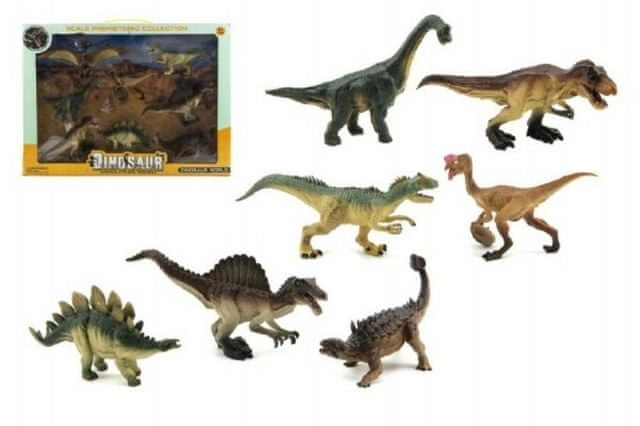 Teddies Dinosaurus plast 8ks v krabici 46x34x7cm