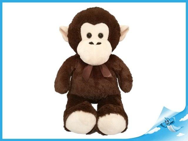 Mikro Trading Opice plyšová 80cm s mašlí
