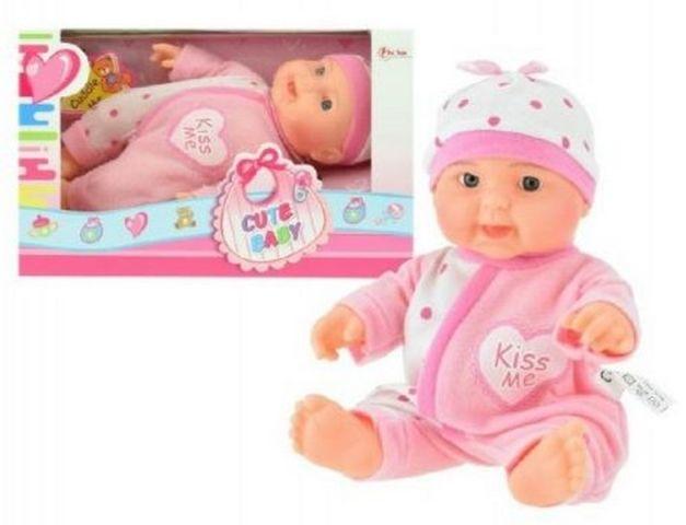 Teddies Miminko panenka růžové 22 cm