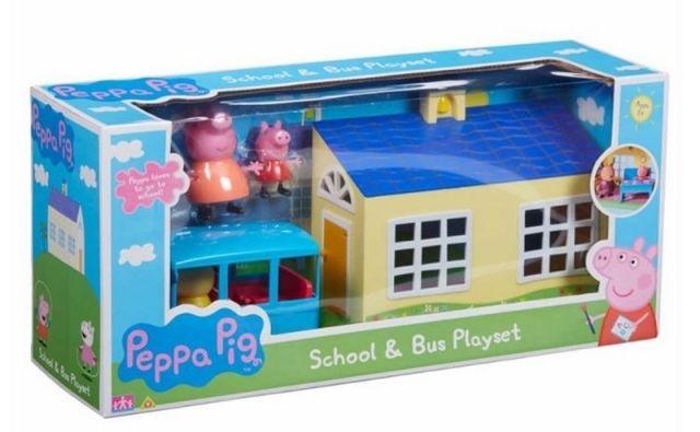 TM Toys PEPPA PIG - škola a školní autobus hrací set