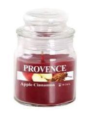 PROVENCE Svíčka ve skle s víčkem 70 g, jablko a skořice