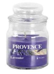 PROVENCE Svíčka ve skle s víčkem 70 g, levandule