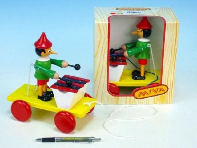 Teddies Tahací Pinochio s xylofonem