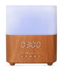 ultradźwiękowy dyfuzor zapachowy Samaya light z zegarem i głośnikiem BT, jasne drewno, 300 ml