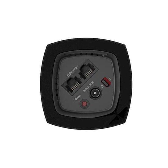 Linksys modularni Wi-Fi razširitveni sistem Velop AC6600, 3 vozlišča, črn (WHW0303B)