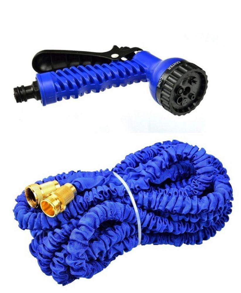 GEKO Zahradní hadice smršťovací, 10m-30m, 7 funkcí, dvojitý pletenec