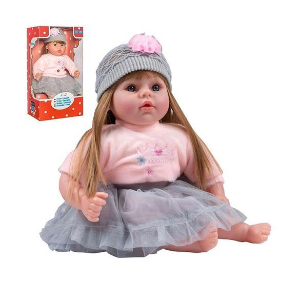 PLAYTO Slovensky hovoriaca a spievajúca detská bábika PlayTo Nina 46 cm Sivá