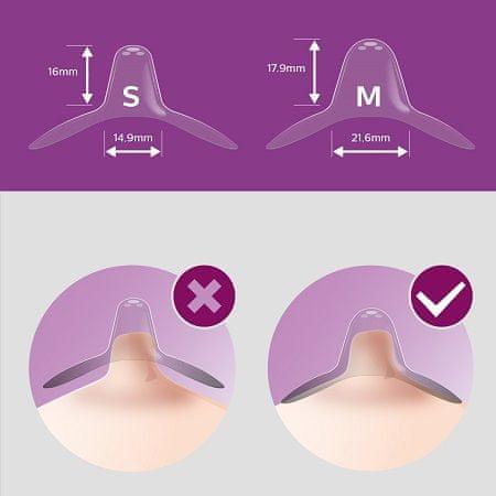 Philips Avent Mellbimbóvédő - small 2 db + sterilizáló tok