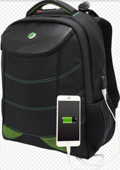 BESTLIFE Snake Eye nahrbtnik za 17″ (43,2 cm) prenosnike BL-BB-3332GE, črno-zelen