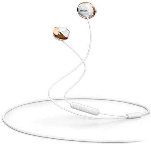 Philips SHE4205 sluchátka s mikrofonem, bílá