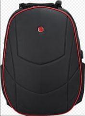 BESTLIFE Batoh Assailant na 17″ notebook BL-BB-3331R, černý/červený