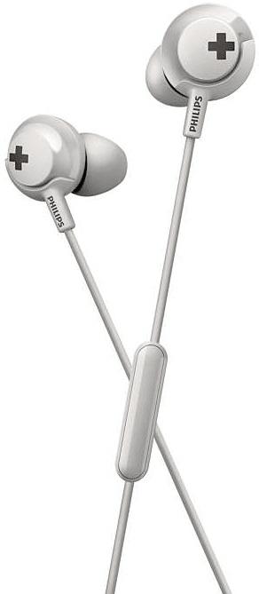 Philips SHE4305 sluchátka s mikrofonem, bílá