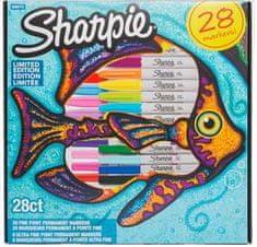 Sharpie flomastri Riba, tanki, 28 kosov