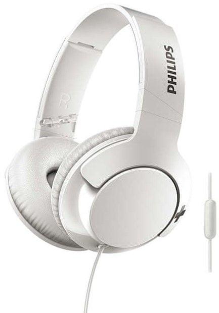 Philips SHL3175 sluchátka s mikrofonem, bílá