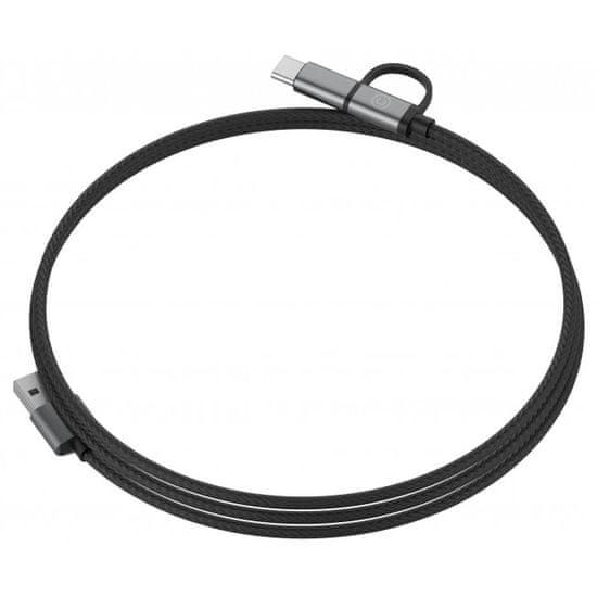 Lab.C C-Type & microUSB kabel 1,2 m (LABC-564-GR), siv