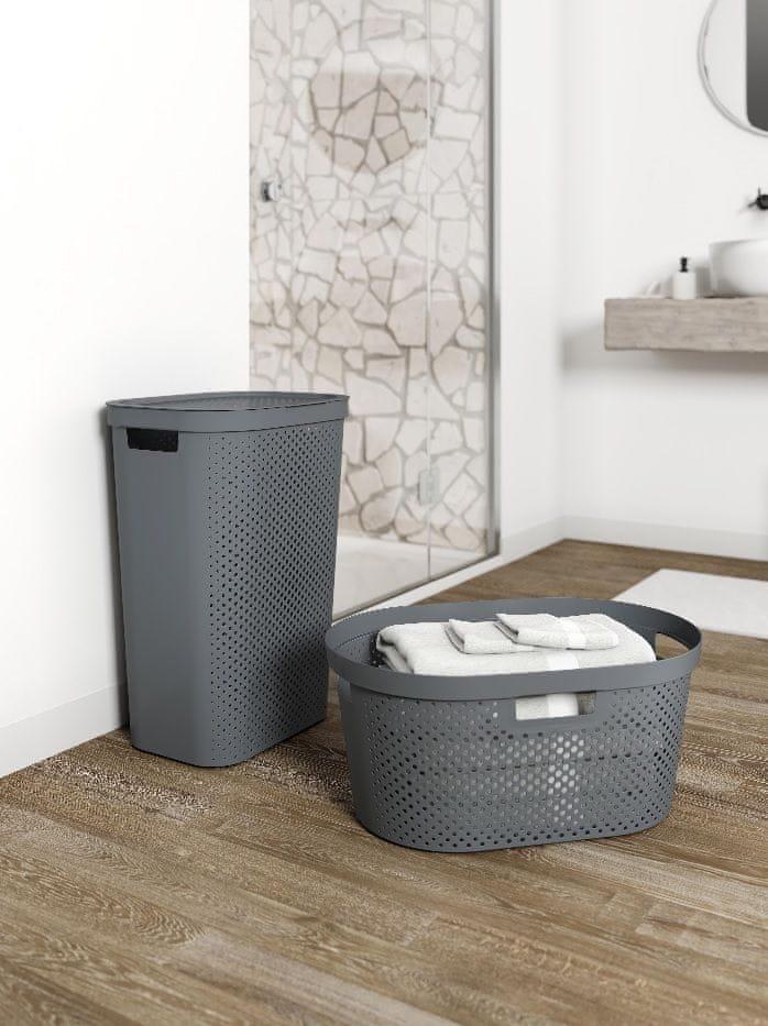 Curver Koš na čisté prádlo INFINITY 39 l tmavě šedý