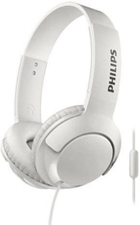 Philips SHL3075 sluchátka s mikrofonem, bílá
