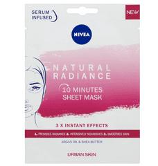 Nivea Urban Skin Natural Radiance tekstilna maska za obraz (10 Minutes Sheet Mask)