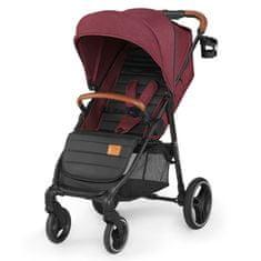 KinderKraft wózek dziecięcy GRANDE burgundy 2020
