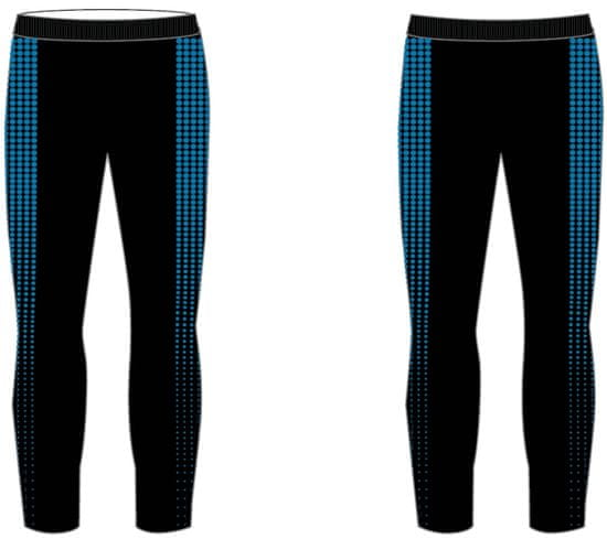 R2 chłopięce spodnie funkcyjne, czarno-niebieskie