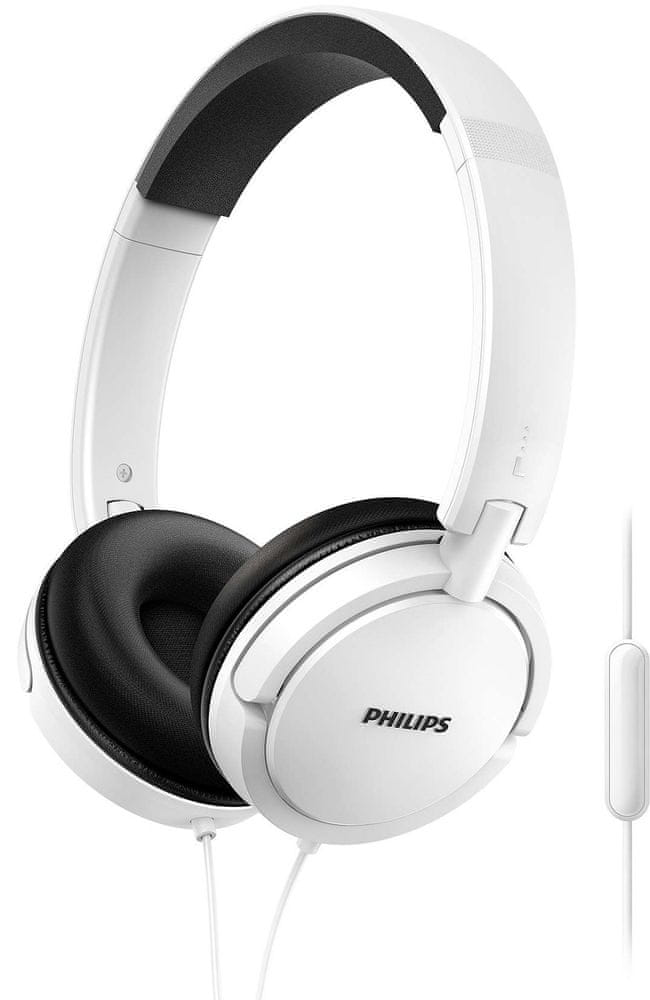 Philips SHL5005 sluchátka s mikrofonem, bílá