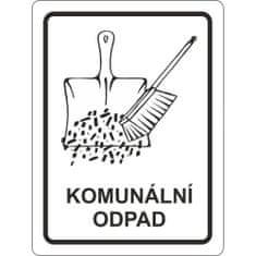 vybaveniprouklid.cz Samolepka komunálne odpad 120x160 mm