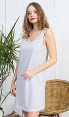 Vienetta Dámská noční košile na ramínka Helena barva světle šedá, velikost M