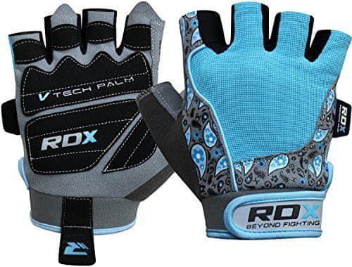 RDX Dámske rukavice GYM GLOVE AMARA BLUE/GRAY, veľkosť S
